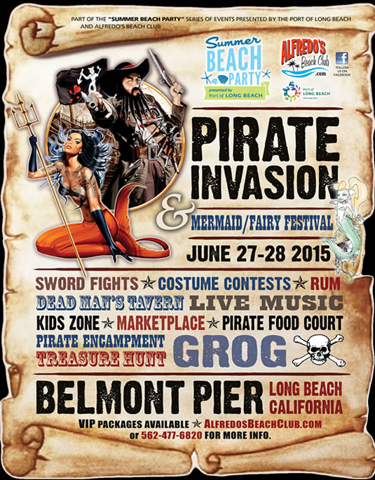 Beware, Pirate Invasion of Belmont Pier June 28- 29, 2014
