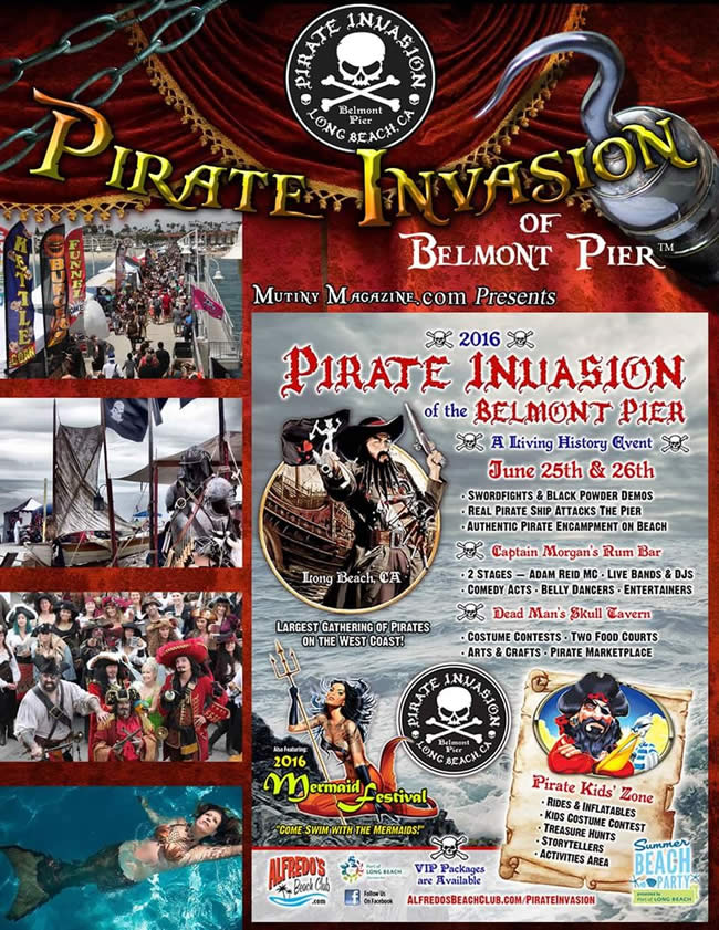 Pirate Invasion of Belmont Pier 2016 Sponsorship Opportunities