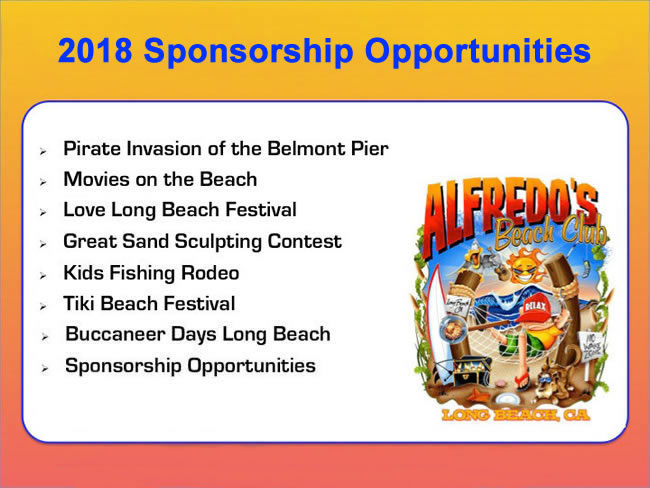 Alfredos 2017 Sponsorship Opportunities